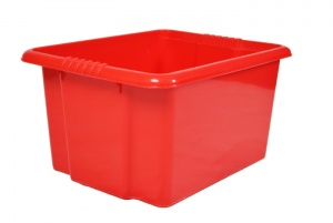 35 Litre Red Stack and Nest Plastic Storage Boxes